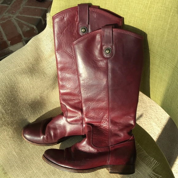 Frye Shoes - FRYE MELISSA Button Leather Riding Boots Size 8